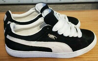 MEN'S PUMA SUEDE BLACK / WHITE UK SIZE 6 1/2