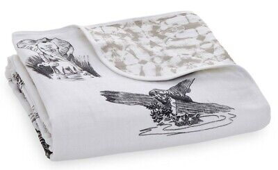 Aden & Anais Classic Dream Muslin Baby Blanket Hear Me Roar Jungle Toile