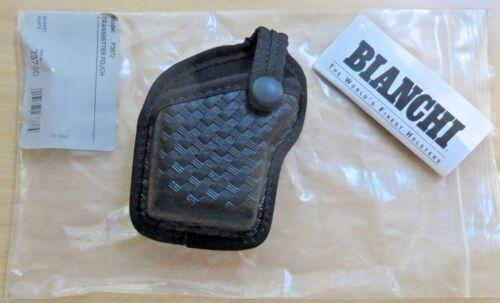 BIANCHI Black P3972 Basketweave Transmitter Pouch 23780