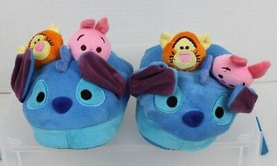 DISNEY Tsum Tsum Stompeez Slippers for Kids Sz Sm-Med NWOT Pair of Blue Stitches