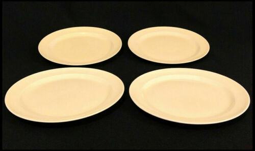 "Lu-ray Pastels Set of 4 Persian Yellow 9"" Dinner Salad Plates T.S.&T Vintage USA"