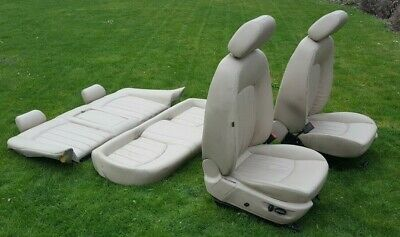 Jaguar X Type Cream Electric Heated Leather Seats Front & Rear Pad Cushion