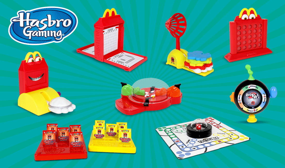 2018 McDONALD'S HASBRO GAMING HAPPY MEAL TOYS! PICK YOUR FAV