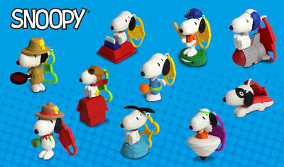 The Peanuts Snoopy 2018 McDonalds Happy Meal Complete Set (10 Toys) *NIP