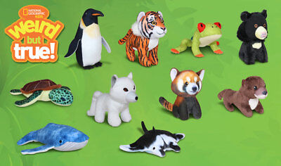 2018 McDONALD'S NATIONAL GEOGRAPHIC PLUSH HAPPY MEAL TOYS! PICK YOUR FAVORITES!