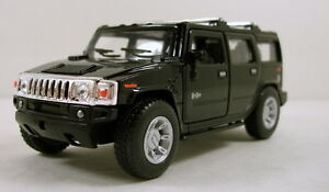 Kinsmart-2008-Hummer-H2-SUV-1-40-scale-5-diecast-model-car-Brand-New-Black-K31