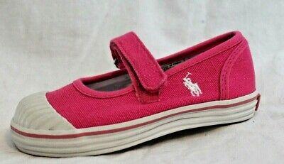 Polo Ralph Lauren Sedena Mary Jane Sneakers Kleinkind 8 Rosa $50 Neu (Polo Ralph Lauren Kleinkind Mädchen)