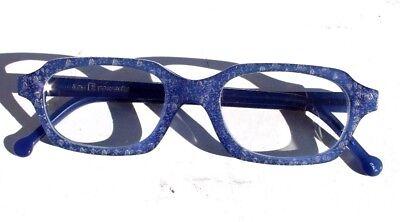 New Vtg 1990s L.A. Eyeworks Retro Abstract Eyeglasses - Blue Hut 302 (Eyeglasses Hut)