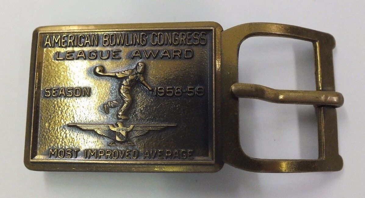 American Bowling Congress League Award Buckle 1958-59 Most Improved Average