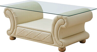 Versace Apolo 3 Piece Coffee End Tables Set in Ivory