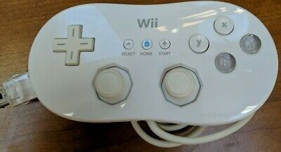 Nintendo Wii Authentic OEM Classic Controller GamePad - White (RVL-005), Tested
