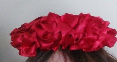 Frida Kahlo Flower Headband (Frida Kahlo Girls head piece Satin Red Great for)