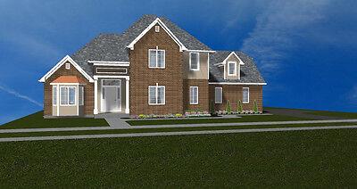 Beautiful 2 Story  House Plan 2 830 Sf