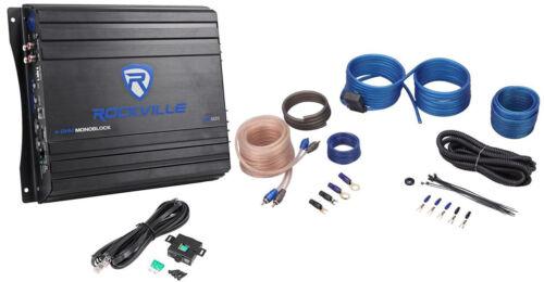 Rockville RVA600.1 1200w Peak 4Ohm Stable Mono Amplifier +