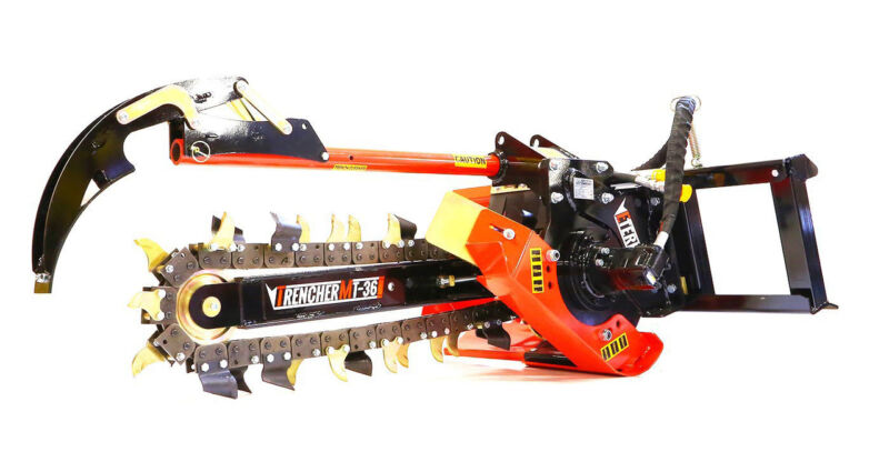 """Skid Steer Trencher Attachment - 48"""" - Attachments for Bobcat Loaders and More!"""