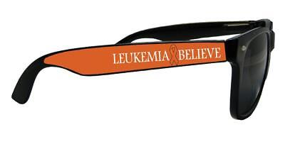 Leukemia Awareness Believe Orange Ribbon Black Unisex Retro Sunglasses Gift S1JT](Leukemia Awareness Ribbon)