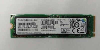 256GB SSD MZVPV256HDGL NVME M.2 SOLID STATE DRIVE PCI-E 3.0 801075-002 PULL OUT