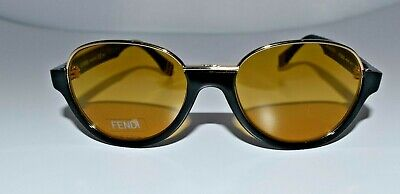 New FENDI Auth Black Gold Limited Edition FF 0059/S MRZBZ Small 52mm (Fendi Shades)