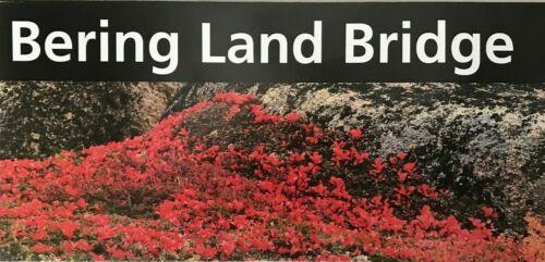New BERING LAND BRIDGE PRESERVE - AK  NATIONAL PARK SERVICE UNIGRID BROCHURE Map