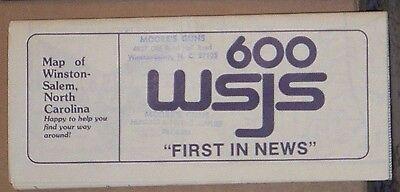 1988 Mass Marketing Street Map of Winston-Salem, North Carolina with Local Ads