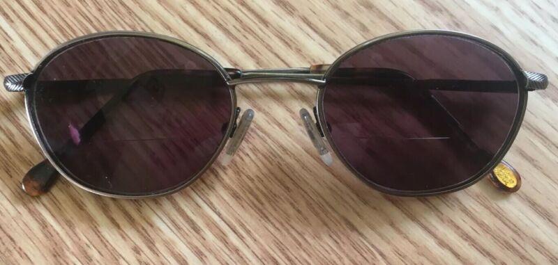 LA GEAR Rodeo Drive Eyeglasses Full Metal Frame RX Lenses Brown Tortoise EUC!