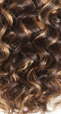 Human Hair Rooting Reborn Babies Toddlers 100g Blonde & Brown Curls NOT Mohair