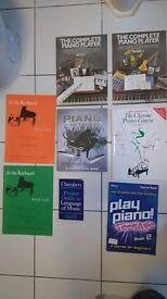 Piano books joblot