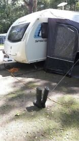ALPINE SPRITE 4 2013 CARAVAN fixed bed