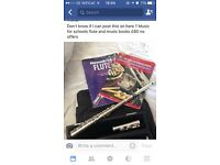 flute with books and bag £60.00 plus postage
