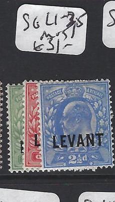 BRITISH LEVANT (P1206B) KE  1/2D-1D, 2 1/2D SG L1-2, 5  MOG