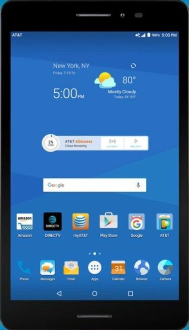 $98.99 - ZTE TREK 2 HD K88 A&T Unlocked Tablet GSM Wi-Fi - CELLULAR 16GB 8