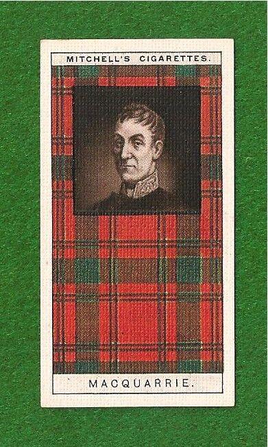 CLAN MACQUARRIE or MACQUARY CLAN TARTAN original 1927 card