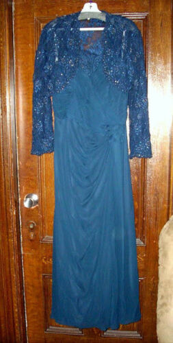 JORDAN FASHIONS - CATERINA COLLECTION MOTHER OF THE BRIDE GOWN SIZE 16