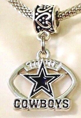 Dallas Cowboys NFL Logo Dangle Pendant Charm for Charm Bracelet, Necklace, Cord ](Dallas Cowboys Charm Bracelet)