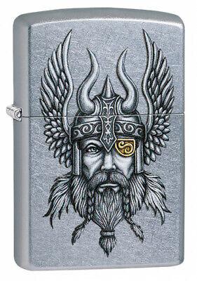 Zippo 29871, Nordic Viking Design, Street Chrome Finish Lighter