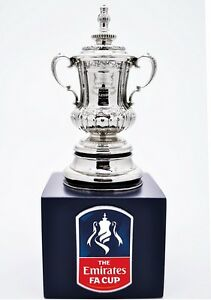 BRAND NEW OFFICIAL FA CUP REPLICA TROPHY 70MM ON  STAND