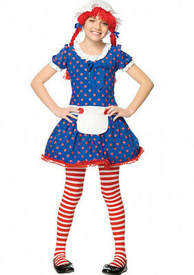 Rag Doll Raggedy Ann Child Costume, X-Small - Rag Doll Costume Kids