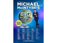 Michael Mcintyre Manchester FRONT ROW TICKETS £99.99 1 PAIR REMAINING