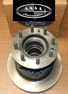 New Ford 80 94 F350 4x4 Dana 60 front hub and rotor asy Dual Wheel E5TZ-1102-B