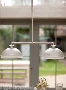 WATER DAMAGED - GARDEN TRADING STYLISH DOUBLE PARIS LIGHT IN GLASS PENDANT