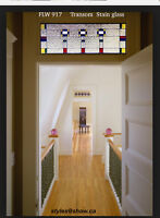 Leaded glass Transom above your door opening WoW