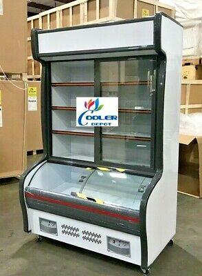 New 47 Commercial Freezer Refrigerator Combo Merchandiser Display Cabinet Rg47