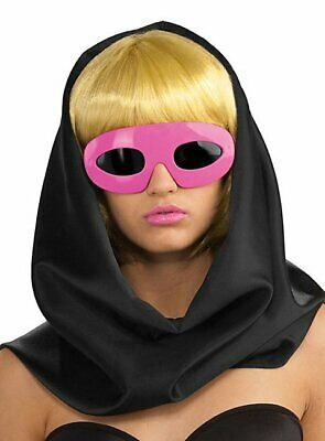 Licensed Lady Gaga Pink Sunglasses Eyeglasses Costume Accessory - Lady Gaga Brille