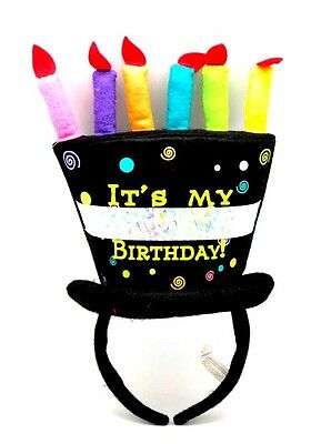 PretendEars Headband Fun Party Costume Celebration Happy Birthday Cake Top Hat B