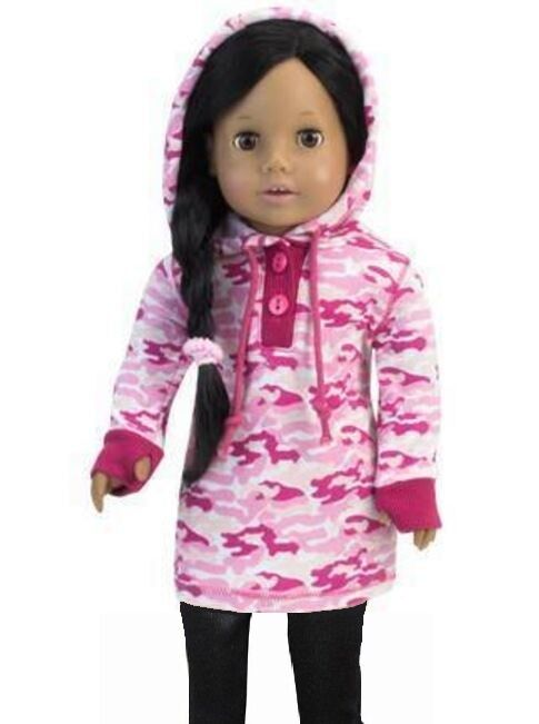 e9eca3549263 Pink Camo Hoodie Jacket for 18 inch American Girl Doll Clothes Accessory