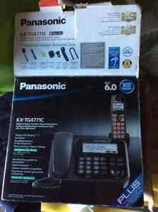 telephone with cordless handset and answering machine