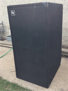 """Electro voice MTL-1 dual 18"""" subs low-frequency bass bins"""
