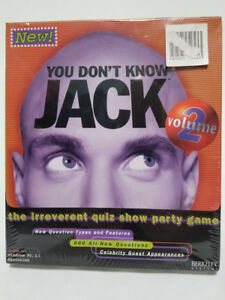 YOU DON'T KNOW JACK VOLUME 2 (PC/MAC) - BRAND NEW SEALED