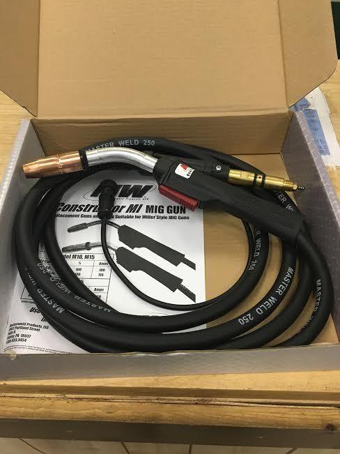 Masterweld Miller 169596 Mig Welding Gun Torch Stinger M-25 12 ft M25 USA MADE