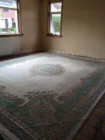 Large traditional style wool rug